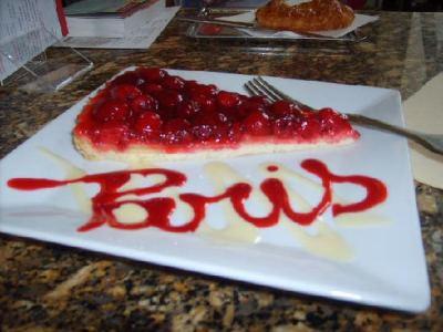 Вкусный десерт в ресторане при Музее D'Orsay